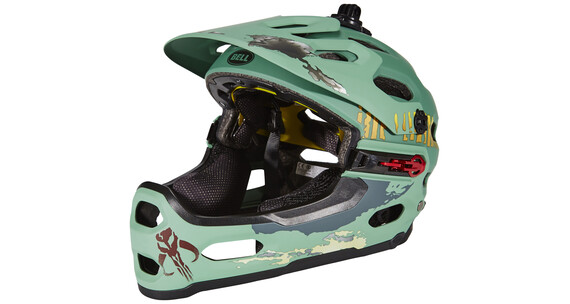 Bell Super 2R Mips Star Wars Downhill helm Limited Edition groen/petrol